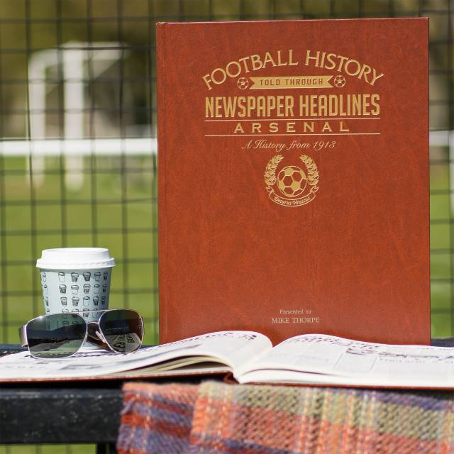 Personalised Arsenal Football Team Newspaper Book