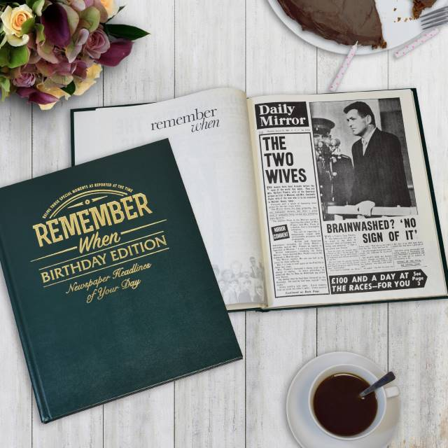 Personalised Birthday Newspaper Book - Put A Name On It Gifts