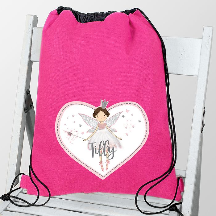 Personalised Fairy Princess Swim & Gym Kit Bag